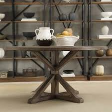 Rustic Dining Room Table Salvaged Wood X Base Round Dining Table Furniture Dining