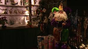 christmas tree decorations shop new orleans hd stock video