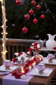 Hall Table Christmas Decoration by 18 Beautiful Outdoor Christmas Table Settings Wouldn U0027t Have To