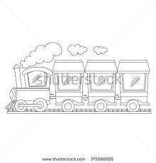 stock images similar id 293018333 train coloring vector
