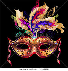 cool mardi gras masks mardi gras mask isolated on black stock illustration 747885607
