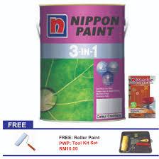 nippon paint 3 in 1 5l 11street malaysia paints u0026 accessories