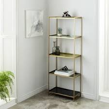 Brass Bookcase Cadman Spine Bookcase West Elm Polyvore