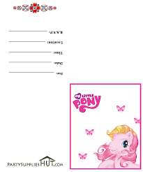 my little pony birthday invitations birthday party invitations