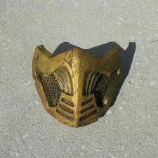 Scorpion Costume Mortal Kombat X Inspired Costume Cosplay Scorpion Themed Mask