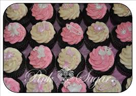 pink sugar baby shower cupcakes for a little