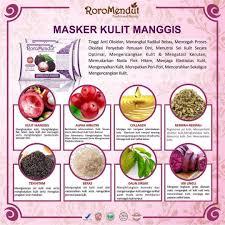 Masker Kulit Manggis Roro Mendut masker antioksidan kulit manggis