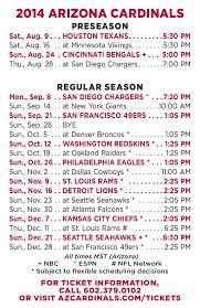 arizona cardinals release 2014 schedule
