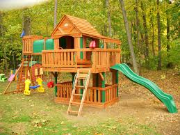 Costco Playground Exterior Oak Wood Frame Cedar Summit Playset For Appealing
