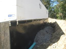 backyard basement wall drainage system foundation wall drainage