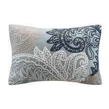 Ivy Kitchen Curtains by Ivy Kiran Paisley Embroidered Throw Pillow