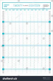 yearly wall calendar planner template 2018 stock vector 774552877