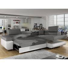 canapé d angle blanc et gris canapé d angle antoni avec têtières relevables angle droit simili