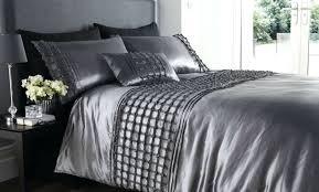 Walmart Duvet Covers Canada Duvet Beautiful Silver Colour Stylish Ruffles Faux Silk Duvet