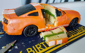 car cake fully working remote car cake mustang gt500