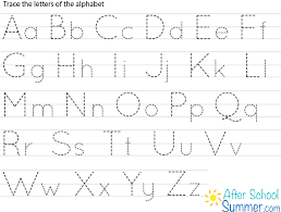 free printable alphabet tracing letters tracing clip tracing