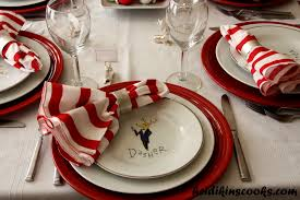 Setting A Table by Setting A Christmas Table With Pottery Barn Reindeer Plates