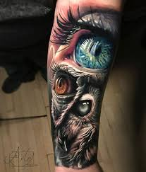 owl human best forearm tattoos cool ideas and designs