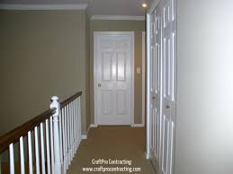 hallway painted in bennington gray paint color by benjamin moore
