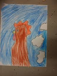 scoil choilm cns art club draw roosters
