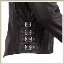 Leather Motorcycle Jacket Women U0027s Side Buckled Racer Jacket Total