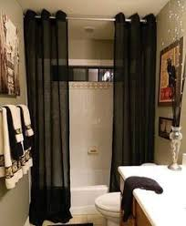 Bathroom Shower Curtain Using Two Shower Curtains Instead Of One Completely Changes The