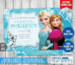 frozen invitation card free printable invitation design