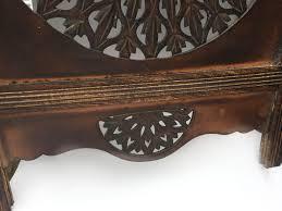 5 panel room divider panel carved indian wooden round sticker leaves design screen room
