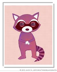 Raccoon Nursery Decor Raccoon Nursery Decor For Animal Baby Room Idea