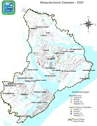map of beaufort county sc mosquito borne disease maps