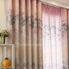 Blue And Yellow Curtains Prints And Purple Floral Print Linen Cotton Blend Curtains For Windows