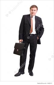 halloween costumes with white background picture of businessman with briefcase
