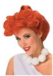 Wilma Halloween Costume Deluxe Wilma Flintstone Wig Halloween Costumes