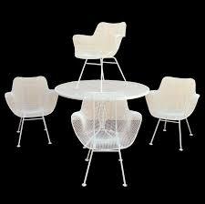 Mesh Patio Furniture Vintage Russell Woodard Sculptura Wire Mesh Patio Dining Set 4 Arm
