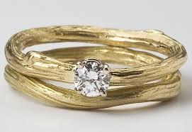 natural wedding rings images Perfect eco chic bridal ring set diamond engagement ring and jpg