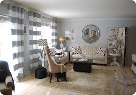 Gray And White Curtains Interesting Grey And White Striped Curtains And Horizontal Stripe