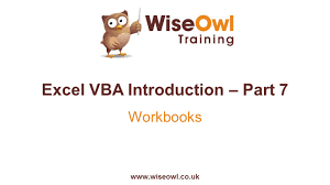 excel vba introduction part 7 workbooks youtube