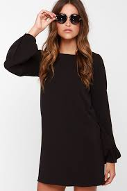 sleeve black dress situation black sleeve shift dress black sleeved