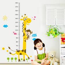 popular children room decals buy cheap children room decals lots 1 set kids height chart wall stickers home decor cartoon giraffe height ruler children room decals