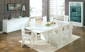 White Leather Dining Room Chairs White Dining Room Table And Chairs Freedom To New Contemporary