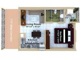 Ghar360 Home Design Ideas Photos And Floor Plans 1 Bhk Duplex House Plans
