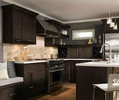 dark maple cabinets in casual kitchen homecrest