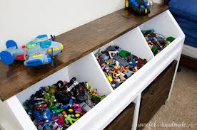 Free Plans For Toy Boxes by Rustic Toy Storage Unit Build Plans A Houseful Of Handmade