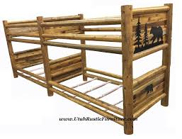 bradley s furniture etc rustic log and barnwood bunk beds bear creek barnwood panel bunk all sizes avail t t as shown 2849 now 2649 choose from different stains avail in all sizes