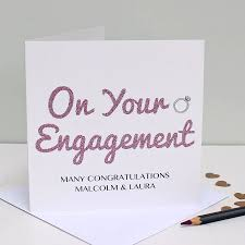 engagement congratulations card personalised engagement congratulations card by martha brook