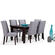 simpli home acadian 7 piece dove grey dining set axcds7 aca dgl