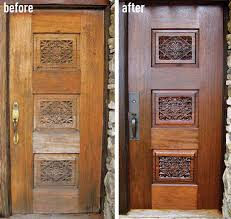 Solid Timber Front Door by How To Refinish An Entry Door Old House Restoration Products