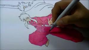 inunyasha copic sketch marker drawing youtube