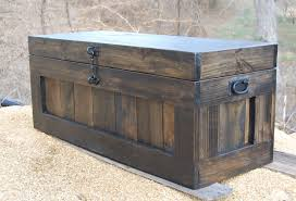 large chest coffee table entry trunk wooden chest