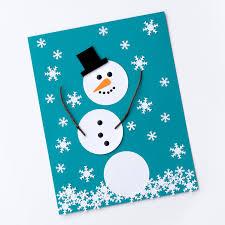 easy paper snowman art